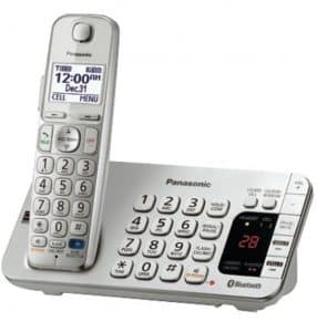 Panasonic Link2Cell Bluetooth KX-TGE274S 4 Handsets Corldess Phone with Large Keypad, Silver